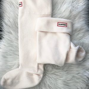 *Never Worn* Hunter Tall Boot Socks - Ivory - Med.